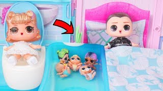 LOL Surprise Dolls Baby Get Married + Barbie Store | Toy Egg Videos