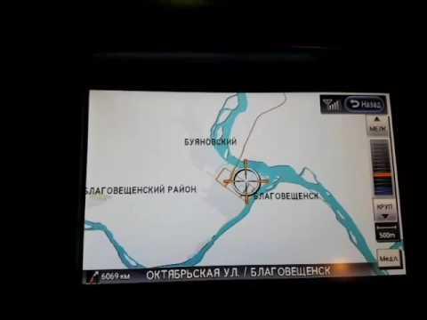Карты Nissan / Infiniti с пробками г. Благовещенск, г. Чита, г. Улан-Удэ, г. Иркутск, г. Ангарск,