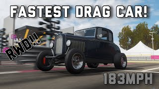 Forza Horizon 4|| The Fastest drag car. RWD (Tune + Build