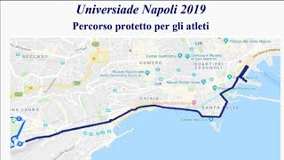 Universiadi, scatta il piano traffico