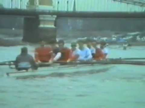 Thames Rowing Club, TRC, 1st and 2nd VIIIs training prior to HoR March 1986