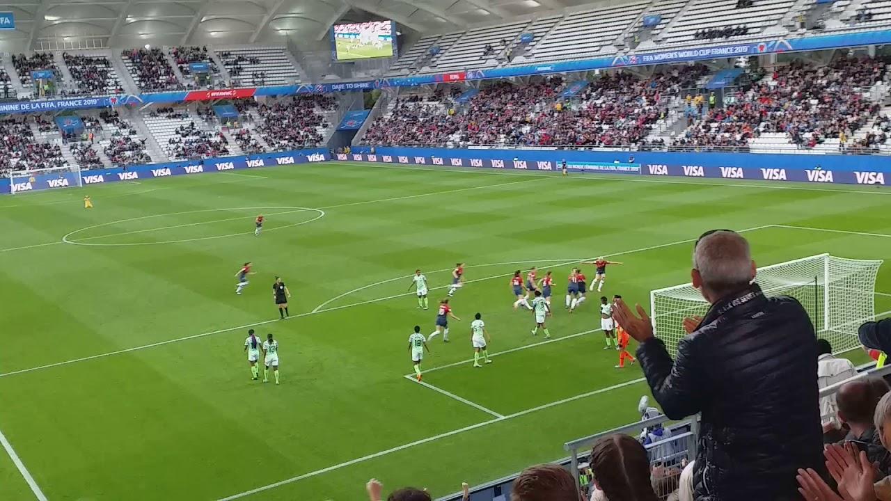 Norvege Nigeria Coupe Du Monde Feminine 2019 But Du 1 0 Youtube