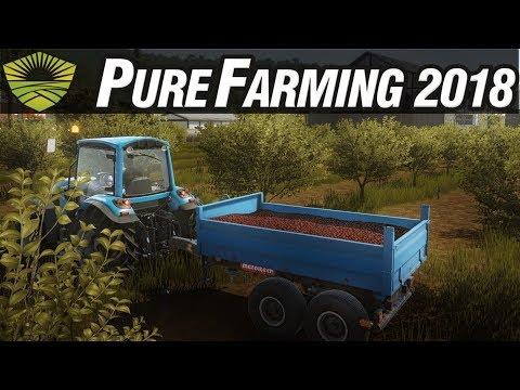 Pure Farming 2018 Gameplay #30 - Surprising Orange Harvest - Free Farming PC Sandbox Gameplay