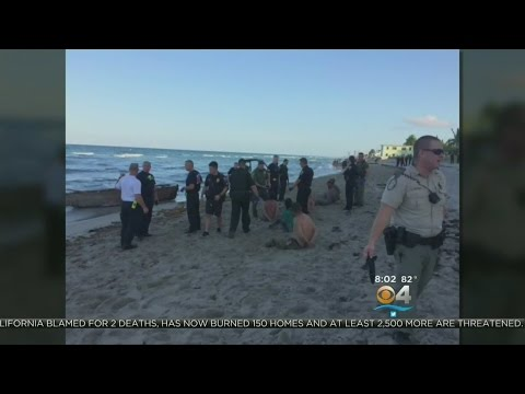 Cuban Migrants Come Ashore In Dania Beach
