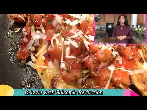 BRUSCHETTA CHICKEN 🍅 | Italian Herb Grilled Chicken | Mediterranean Diet Recipe