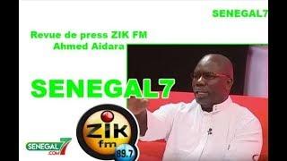 Revue de presse (Wolof) Zik Fm du Jeudi 14 Novembre 2017 avec Ahmed Aidara