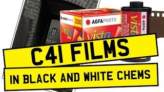 C41 FILM PROCESSING IN BLACK AND WHITE CHEMICALS