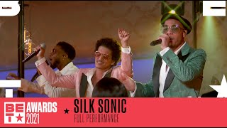 Silk Sonic Are A Dynamic Duo In 'Leave The Door Open' Performance | BET Awards 2021