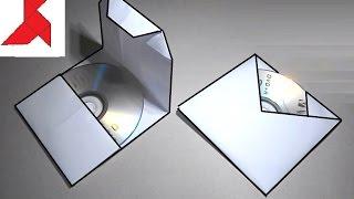 Как сделать конверт для cd или dvd диска из бумаги А4?(Два шаблонных варианта складывания конвертов для CD и DVD дисков из листа бумаги формата А4. Первый способ..., 2016-06-21T14:02:42.000Z)