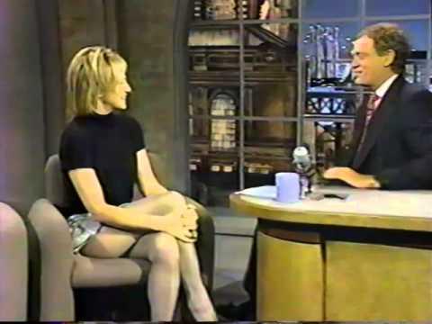 Ellen Barkin on Dave Letterman