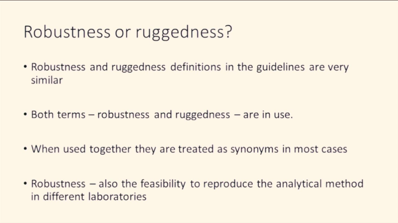 Robustness And Ruggedness Introduction