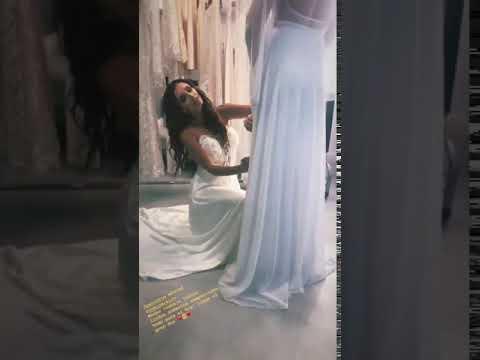 Paz Cornú muestra vestido de Romina Pereiro para su casamiento con Jorge Ríal