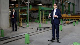 Mateusz Morawiecki w firmie Kokoszki w Gdańsku