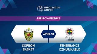 Press Conference - 3rd Place Game Sopron Basket v Fenerbahce Oznur  EuroLeague Women 2020-21
