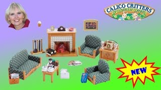 ♥♥ Calico Critters Deluxe Living Room Set