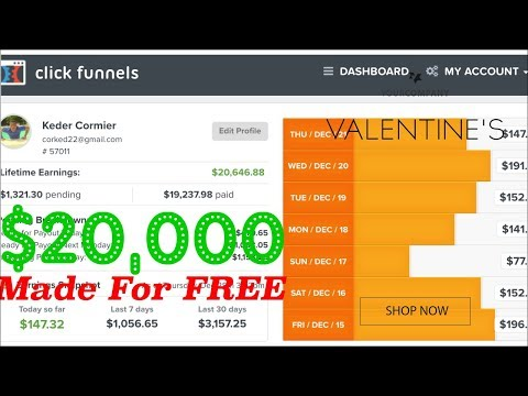 How I Made $20,000 With Clickfunnels For FREE