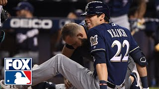 Christian Yelich to miss remainder of Brewers season with fractured right knee cap | MLB WHIPAROUND
