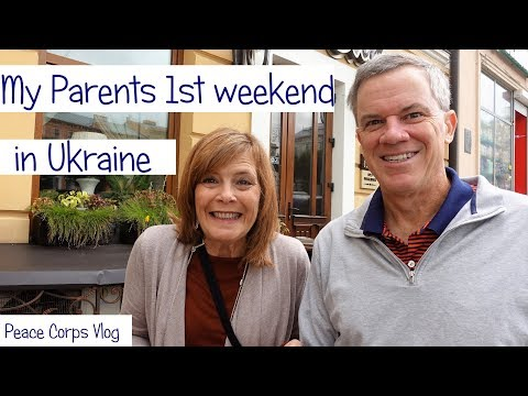 """MY PARENT""""S FIRST WEEKEND IN UKRAINE!!! 