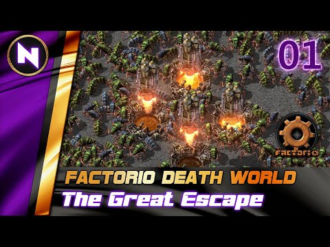 Factorio DeathWorld #1 INTRODUCING THE BASE AND GOALS | Lets Play