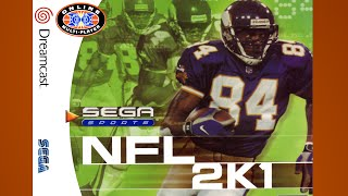 NFL 2K1 Gameplay Buffalo Titans DC {1080p 60fps}