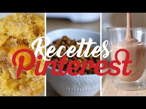Je teste les recettes PINTEREST