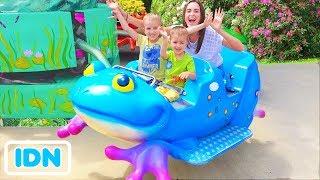 Taman Bermain Luar Ruangan Terbaik untuk anak anak Taman hiburan Waktu bermain lucu dengan Vlad Fami
