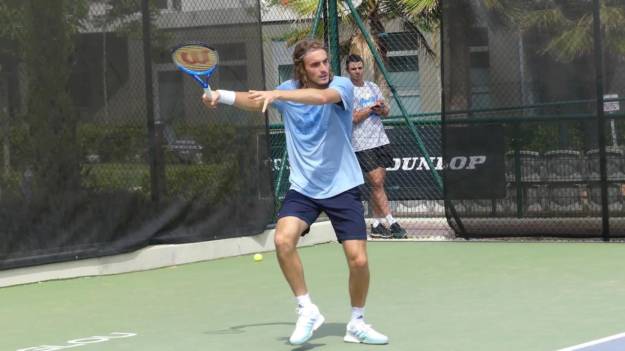 P1070753 Stefanos Tsitsipas Vs Petros Tsitsipas Tennis Practice At Mouratoglou 08 06 2019 Youtube