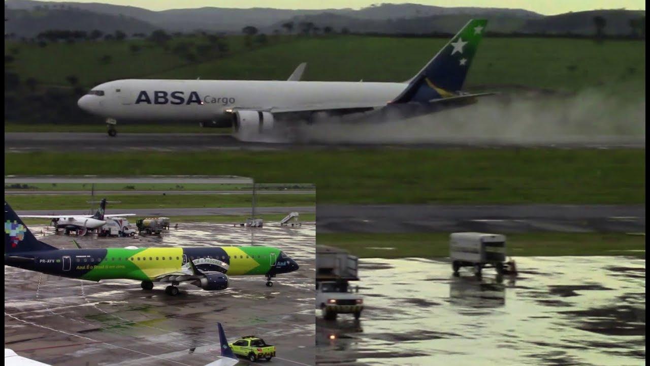 Uma tarde chuvosa no Aeroporto de Confins
