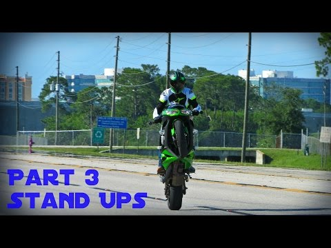 How to Wheelie a Motorcycle: Part 3 - Stand Ups