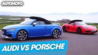 Le duel : Audi TT RS/Porsche Boxster S