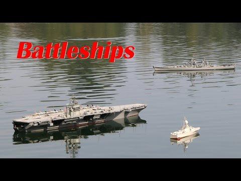 RC Boats USS Nimitz & Missouri & Yamato & Wiesel