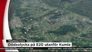 Totalstopp på E20 efter dödsolycka - Nyheterna (TV4)