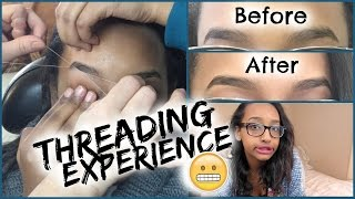 First Time Eyebrow Threading: Vlog & Experience