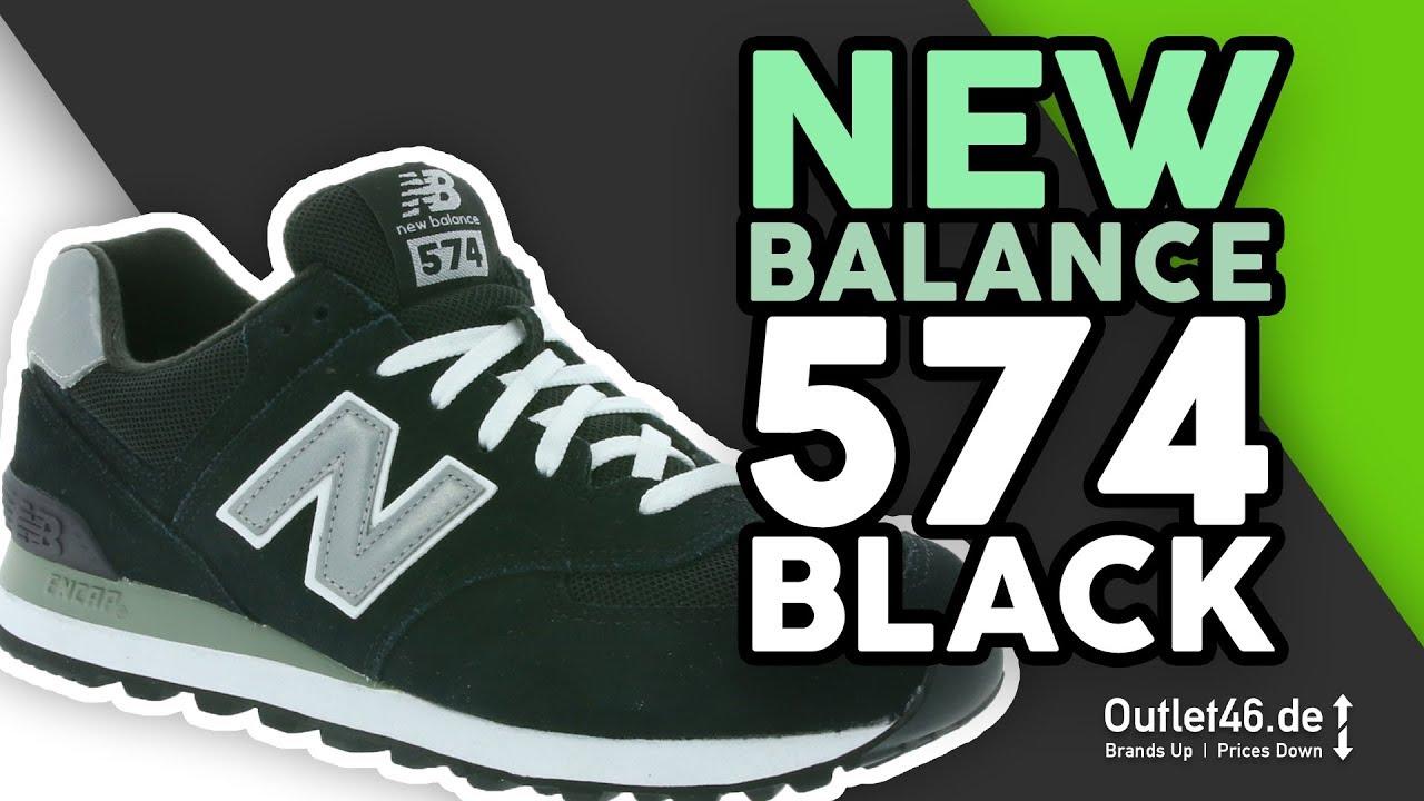on sale dd682 d05e7 New Balance 574 in Schwarz DEUTSCH l Review l On Feet l Overview l  Outlet46.de
