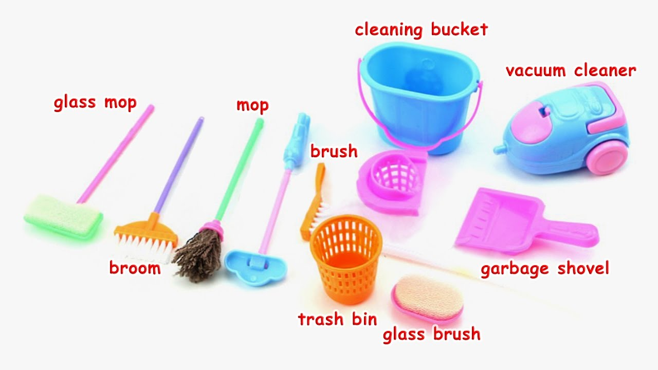 Learn Names Of Miniature Cleaning Toys For Barbie