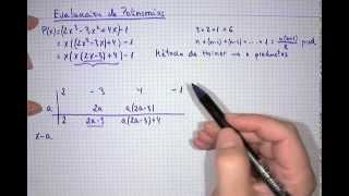 Algoritmo de Ruffini y método de Horner