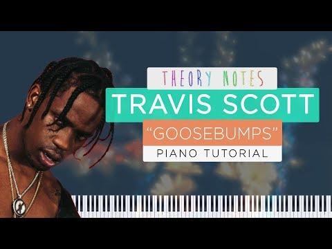 How to Play Travis Scott ft. Kendrick Lamar - Goosebumps   Theory Notes Piano Tutorial