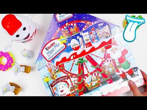 Kinder xxl maxi mix adventskalender unboxing - Weihnachtsdeko kinderzimmer ...