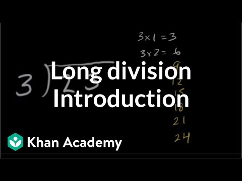 Introduction to long division | Multiplication and division | Arithmetic | Khan Academy