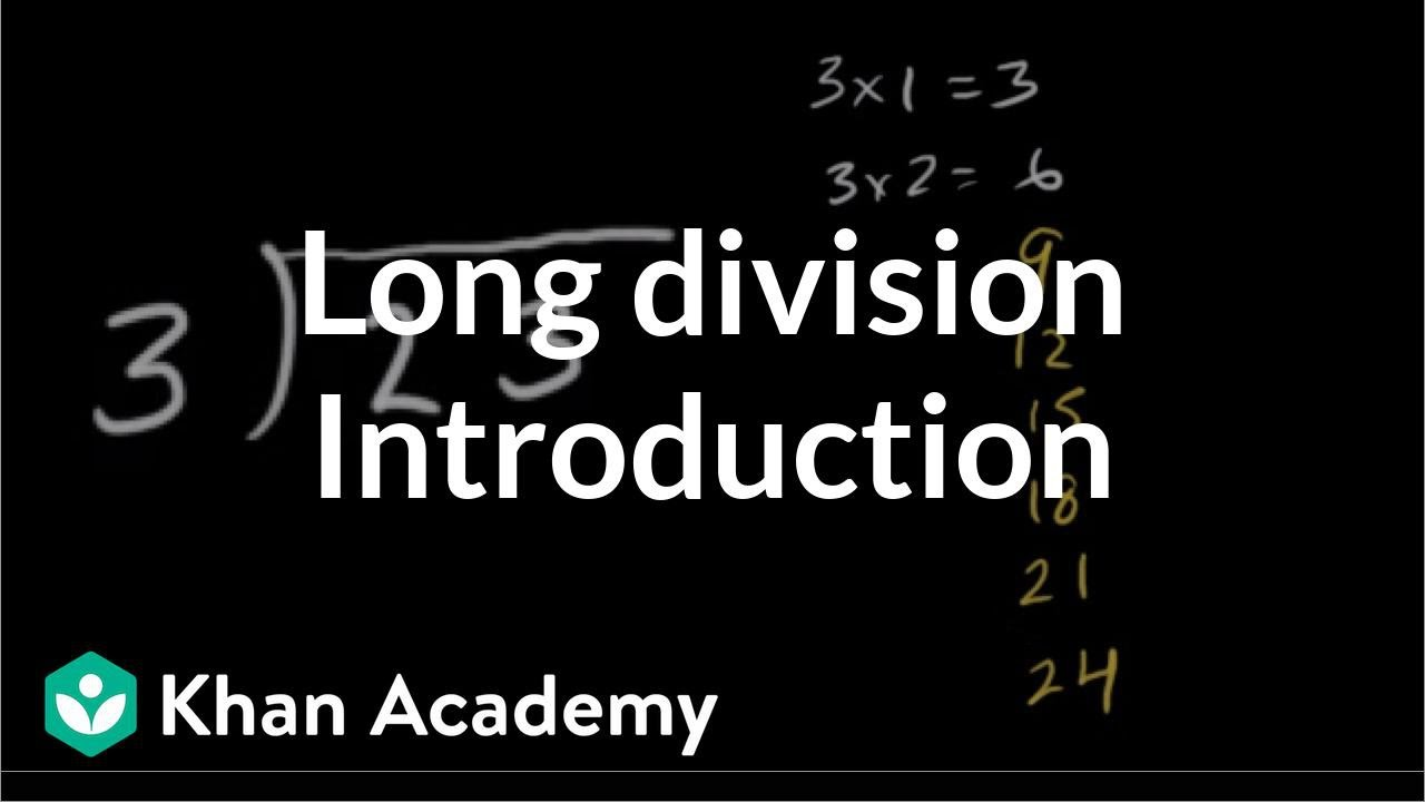 medium resolution of Intro to long division (remainders) (video)   Khan Academy