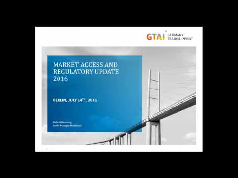 Webinar: Market Access and Regulatory Update for Medical Device Manufacturers (Jul 2016)