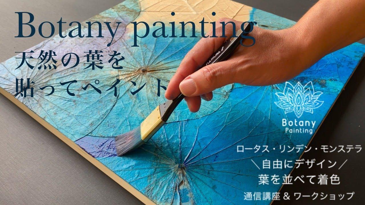 ロータス・リンデン・モンステラ|ボタニーペインティング|LOTUS.LINDEN.MONNSUTERA botany painting