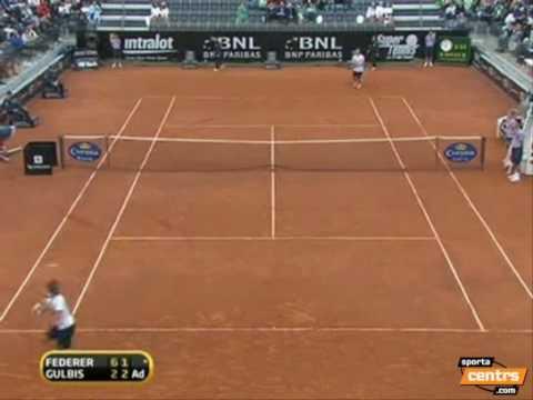 Gulbis Federer Rome 2nd round