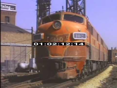 Chicago - 1970 - Trains - Diesel - Railroads - Stock Footage - Best Shot Footage