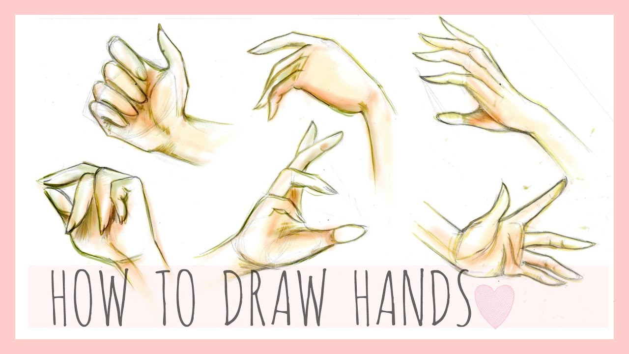 drawing tutorial how to draw hands youtube