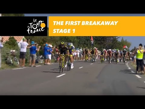 The first breakaway - Stage 1 - Tour de France 2018