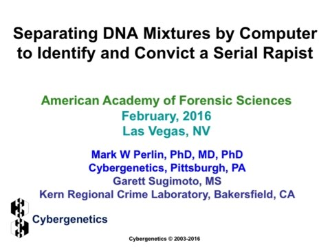 Separating DNA mixtures by computer to identify and convict a serial rapist