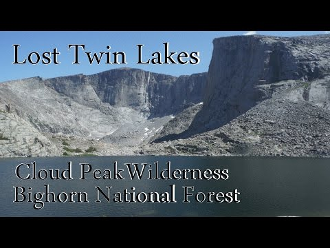 Day Hike to Lost Twin Lakes in the Cloud Peak Wilderness, Bighorn National Forest, Wyoming