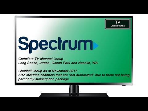 TV Channel Lineup: Charter Spectrum, Long Beach, WA (November 2017)