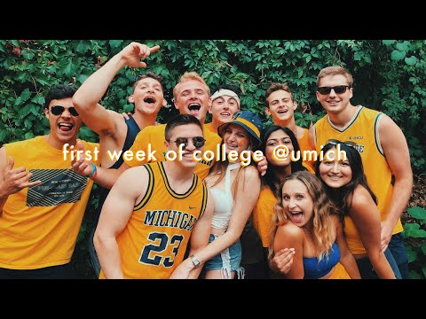 My First Week Of University: Welcome Week At The University Of Michigan 2019 | Vlog 27